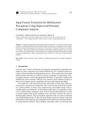 Input Feature Extraction for Multilayered Perceptrons Using ...