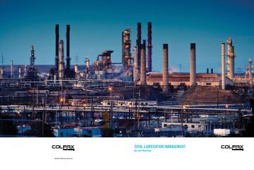 Total Lubrication Management: Up and Running - Colfax Corporation