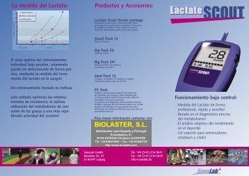 Descargar información del Lactate Scout (PDF 349 Kb) - Biolaster