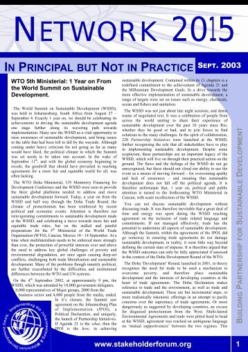 Issue VII.pdf - Earth Summit 2002