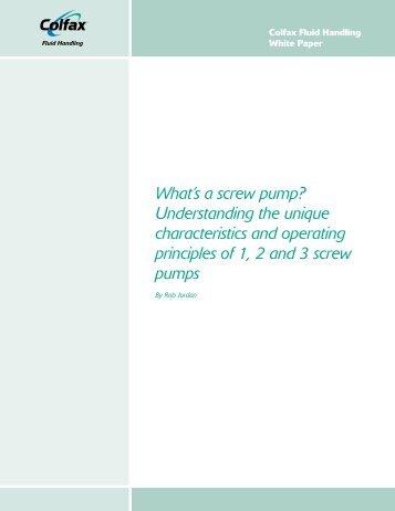 What's a screw pump? - Colfax Corporation
