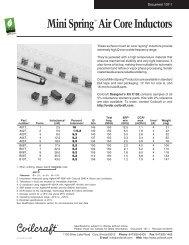 "Mini Springâ""¢ Air Core Inductors - Coilcraft"