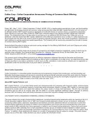 Colfax Corporation Announces Pricing of Common Stock Offering