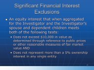 Significant Financial Interest Exclusions - Division of Biomedical ...