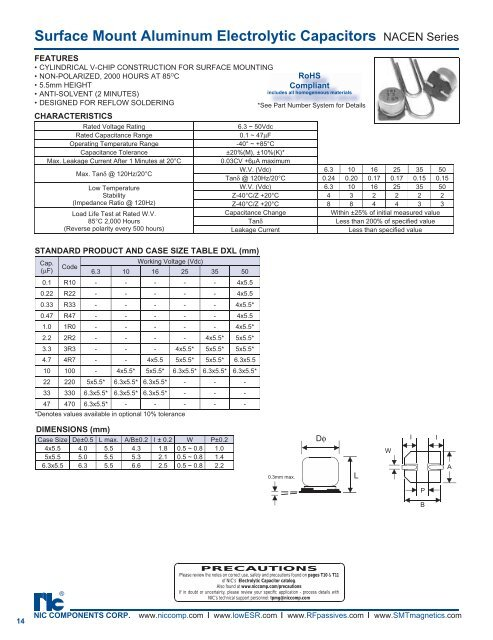 Surface Mount Aluminum Electrolytic Capacitors Pc Components