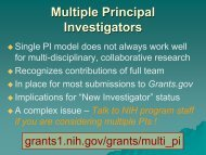 Grant Writing for Success Part II - Division of Biomedical Science