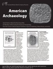 American Archaeology - Oxbow Books