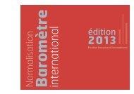 Normalisation - Baromètre international 2011 - Afnor