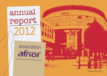 Annual Report 2012 - Afnor