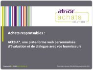 ACESIA - AFNOR Solutions Achats