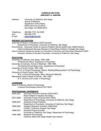 Curriculum vitae services