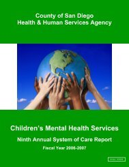 Fiscal Year 2006-2007 - Child and Adolescent Services Research ...