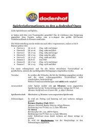 Spielerinformationen zu den 4.dodenhof Open