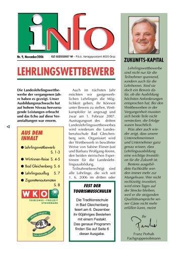 Nr. 9, November 2006 - Gute Noten für Lehre und Berufsschulen ...