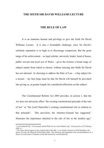 THE RULE OF LAW 2006