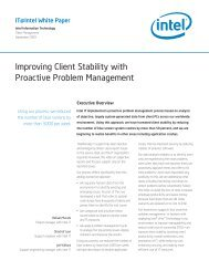 Improving Client Stability with Proactive Problem Management - Intel