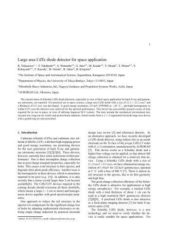 PDF (0.4 MB) - X-ray Astronomy Group at ISAS