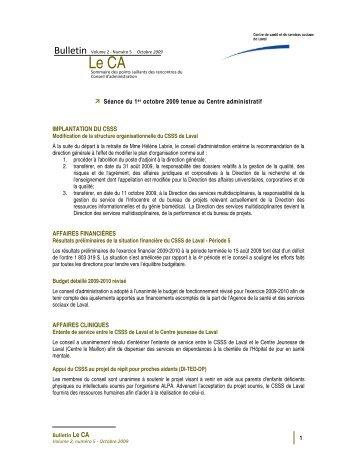 Volume 2 Numéro 5 - Centre de santé et de services sociaux de Laval