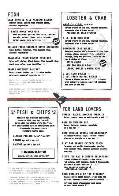 fish lobster & crab fish & chips for land lovers - Portland