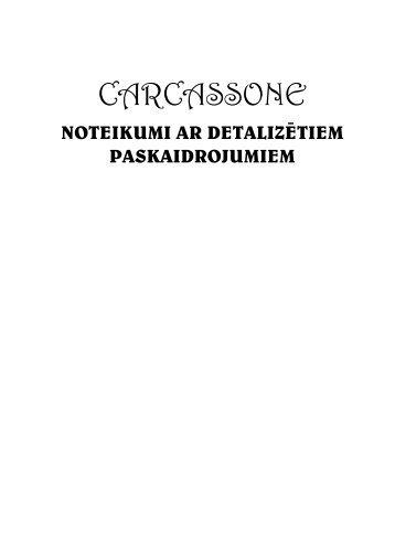 Carcassonne - Detalizētie Noteikumi