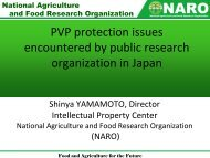 PVP protection issues encountered by public research organization ...