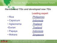 Indonesia - The East Asia Plant Variety Protection Forum