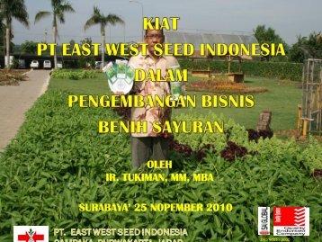 Kiat PT East West Seed Indonesia Dalam Pengembangan Bisnis ...