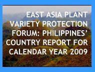 country report for calendar year 2009 - The East Asia Plant Variety ...
