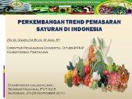Perkembangan Trend Pemasaran Sayuran di Indonesia