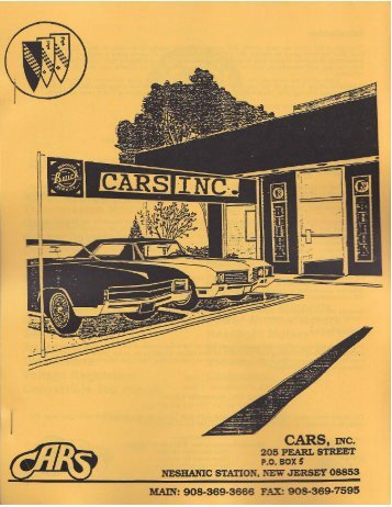 Buick Parts Catalog - Old Buick Parts - CARS. Inc.