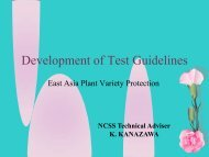 Development of Test Guidelines - The East Asia Plant Variety ...