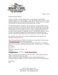 SNS News Release 3-18-11 - Sealed N Safe