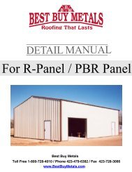 R-Panel Install Guide - PA Metal Roofing Materials - Best Buy Metals