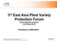 3rd East Asia Plant Variety Protection Forum - The East Asia Plant ...
