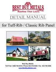 Tuff-Rib Install Guide - PA Metal Roofing Materials - Best Buy Metals