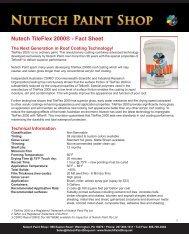 Nutech TileFlex 2000® - Fact Sheet - iMetal.net
