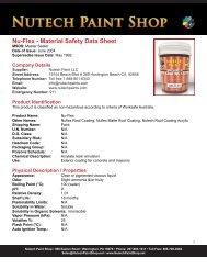 Nu-Flex - Material Safety Data Sheet - iMetal