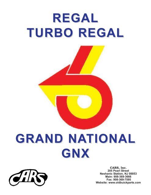 BUICK GNX REGAL T-TYPE TTA TURBOCHARGED EMBLEMS BADGES