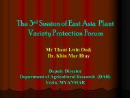 The 3rd Session of East Asia Plant Variety Protection Forum The 3rd ...