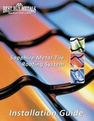 Sapphire Installation Instructions - Best Buy Metals