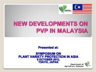 PVP in Malaysia.pdf - The East Asia Plant Variety Protection Forum