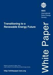 ISES report on Renewable Energy policy
