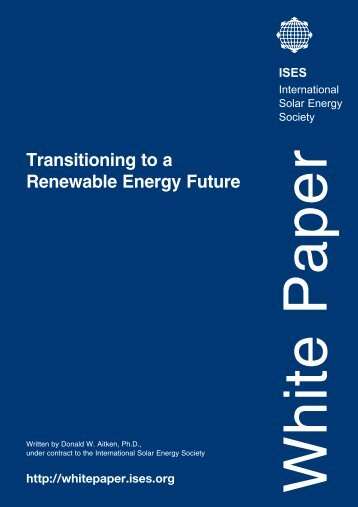 ISES report on Renewable Energy policy