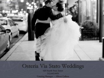 Osteria Via Stato Weddings - Lettuce Entertain You