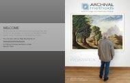 PRESERVATION - Archival Methods