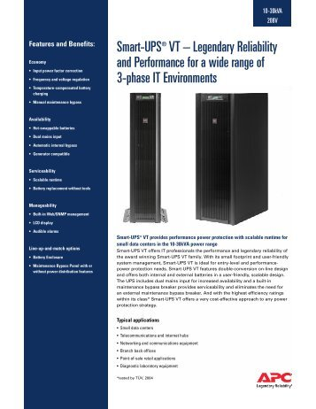 SmartUPS VT - United Power & Battery