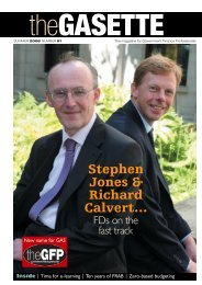 Download PDF of Issue 91 - Government Finance Profession