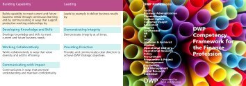 DWP Competency Framework - Government Finance Profession