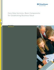 Core Data Services - Pitney Bowes Business Insight