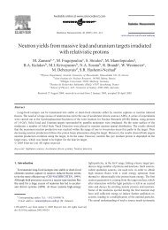 Neutron yields from massive lead and uranium ... - ResearchGate